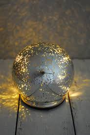 mercury glass ball lights orb light mercury glass silver 4 75in