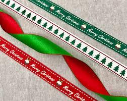 merry christmas ribbon christmas ribbon etsy