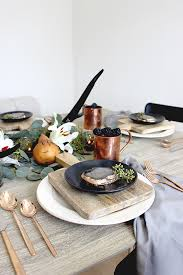 a moody color palette for your thanksgiving table julep
