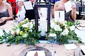 lantern centerpieces greenery and lantern centerpiece elizabeth designs the