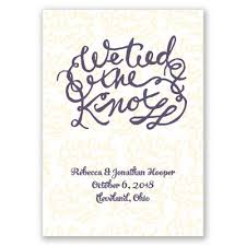 wedding knot quotes the knot wedding announcement elopement announcement