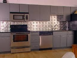 comtemporary 10 kitchen with metal ceiling tiles on decorative