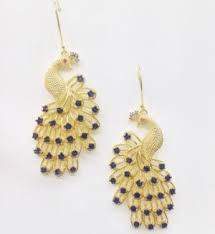 peacock design earrings earrings gold finish peacock design earrings online shopping
