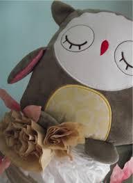speckled egg owl baby shower diaper cake