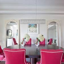 pink dining room design ideas