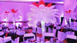 ostrich feather centerpieces ostrich feather centerpiece rentals by featherpieces flowers