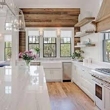 la cuisine blanche et bois en 102 photos inspirantes decoration