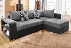 ressort canapé canapé d angle aspect cuir et tissu reversible et convertible avec