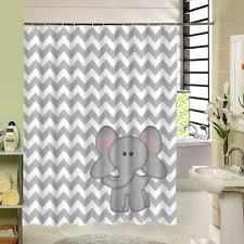 fabric elephant shower curtain 3d printing decorative curtain