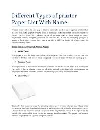 Printer Resume Different Resume Types What Are The Different Resume Types Which