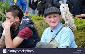 Owl Shoulder - with an owl on his shoulder market square nottingham