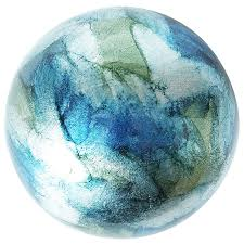 light blue decorative balls blue green foil decorative sphere pier 1 imports