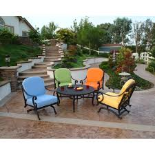 athena chat patio table with fire pit
