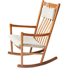 Rocking Chair With Ottoman For Sale Vintage Hans Wegner For Tarm Stole Teak And Wool Rocking Chair