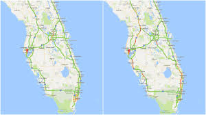 Florida Google Map by Heavy Traffic Reported On Northbound Highways Across Florida