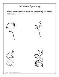 halloween math halloween worksheets math symmetry tracing cut and paste