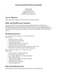Purchasing Assistant Resume The Amazing Personal Assistant Resume Objective Resume Format Web