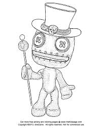 halloween doll free coloring pages kids printable