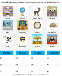 worksheets for grade 1 about nouns nouns test for st graders goes