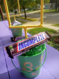 Tin Buckets For Centerpieces by Simple Diy Football Centerpiece The Domestic Geek Blog