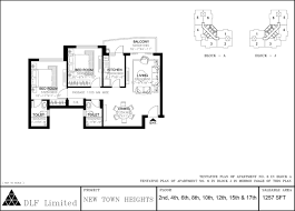 Floor Plan Abbreviations by Luxury Apartments In Kolkata By Dlf New Town Heights