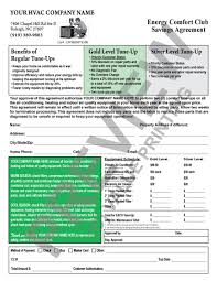 Hvac Estimate Template by Hvac Sales Proposal Contract Room For Multiple Units Great For