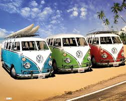 volkswagen bus beach vw camper camper official mini poster products pinterest