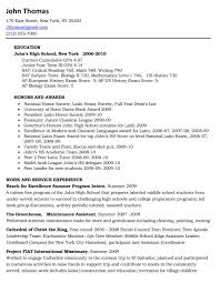 high school resume template for college exles of high school resumes for college objective resume