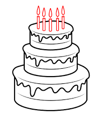 coloring page impressive drawn birthday cake cartoon 6 coloring