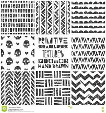 Tribal Print Wallpaper by Set Of 8 Primitive Geometric Patterns Tribal Seamless Backgrounds
