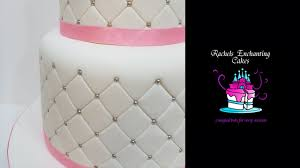 quilted effect wedding cake how to