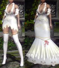 wedding dress skyrim half vire wedding dress unp eskyrim