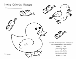 first grade math color number worksheets coloring for kids first