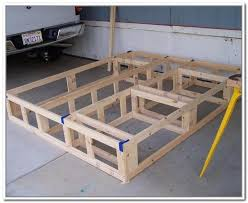 King Size Bed Frame Diy Diy King Size Bed Frame With Storage Home Design Ideas