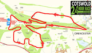 Map Route by Cotswold 24 Hour Race Route Map
