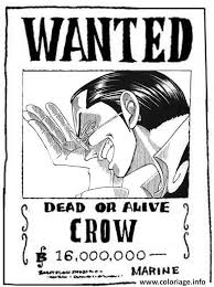 coloriage one piece wanted crow dead or alive dessin