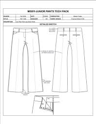 fashion apparel tech pack templates my practical skills my