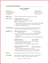 cpa resume cosy sle accounting internship resume objective in exle of