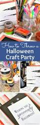 how to throw a halloween craft party