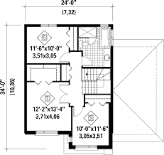 Contemporary Style House Plan 3 Beds 1 00 Baths 1536 Sq Ft Plan