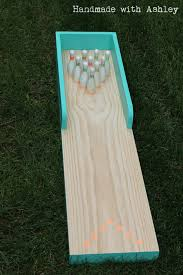 ana white diy bowling lane featuring handmade with ashley