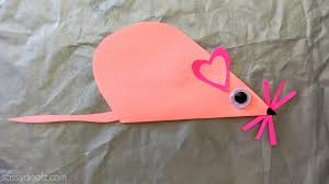 folded heart mouse craft for kids crafty morning