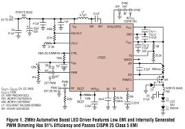 ltc design note low emi led driver features 2a 40v synchronous