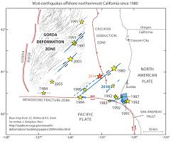 Usgs Real Time Earthquake Map Another Strong Earthquake Near Cape Mendocino