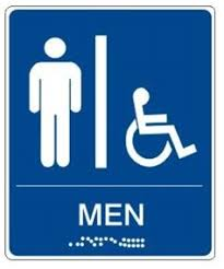 bathroom men handicapped accessible men s bathroom sign ada