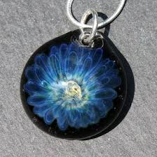art glass skeleton ring holder images Hand blown glass pendants and necklaces jpg
