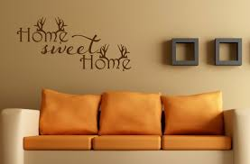 home sweet home wall decal antler decor hunting decal home