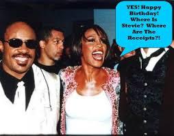 Is Stevie Wonder Blind And Deaf Whitney Houston Back To