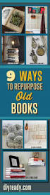 diy upcycled home decor craft projects ideas with old books repurposed items can can used