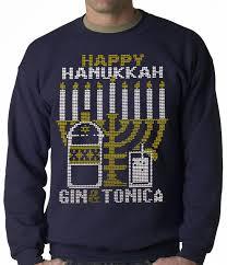 hanukkah shirts hanukkah sweater gin and tonica golden menorah hanukkah ad